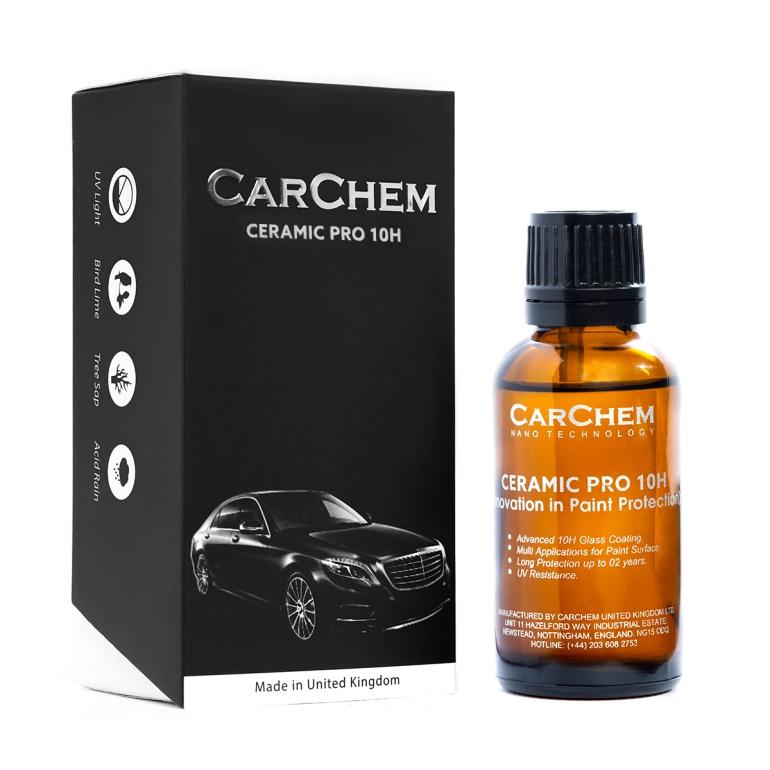 Carchem ceramic pro 10h - phủ sứ bảo vệ sơn xe